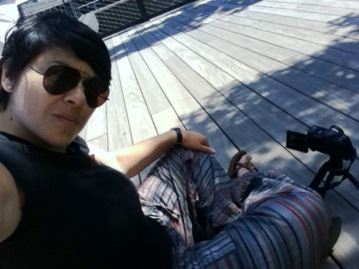 Video recording on the High Line in Manhattan (c) 2012