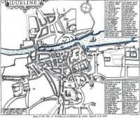 Dublin map, 1610