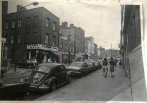 Meath street in the 1970s, Larkin butcher on the corner